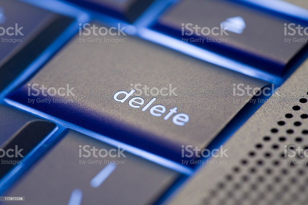 Focus on Delete stock photo