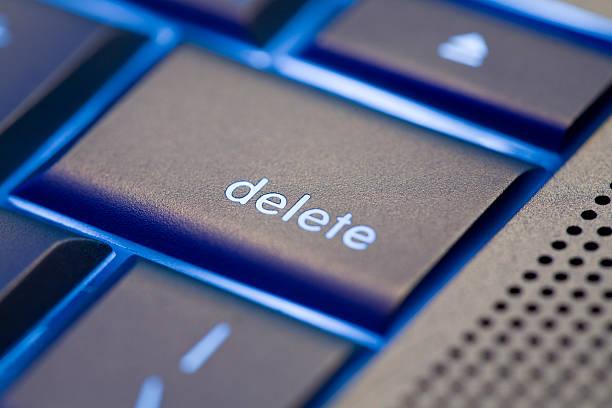 focus on delete - delete key stock photos and pictures