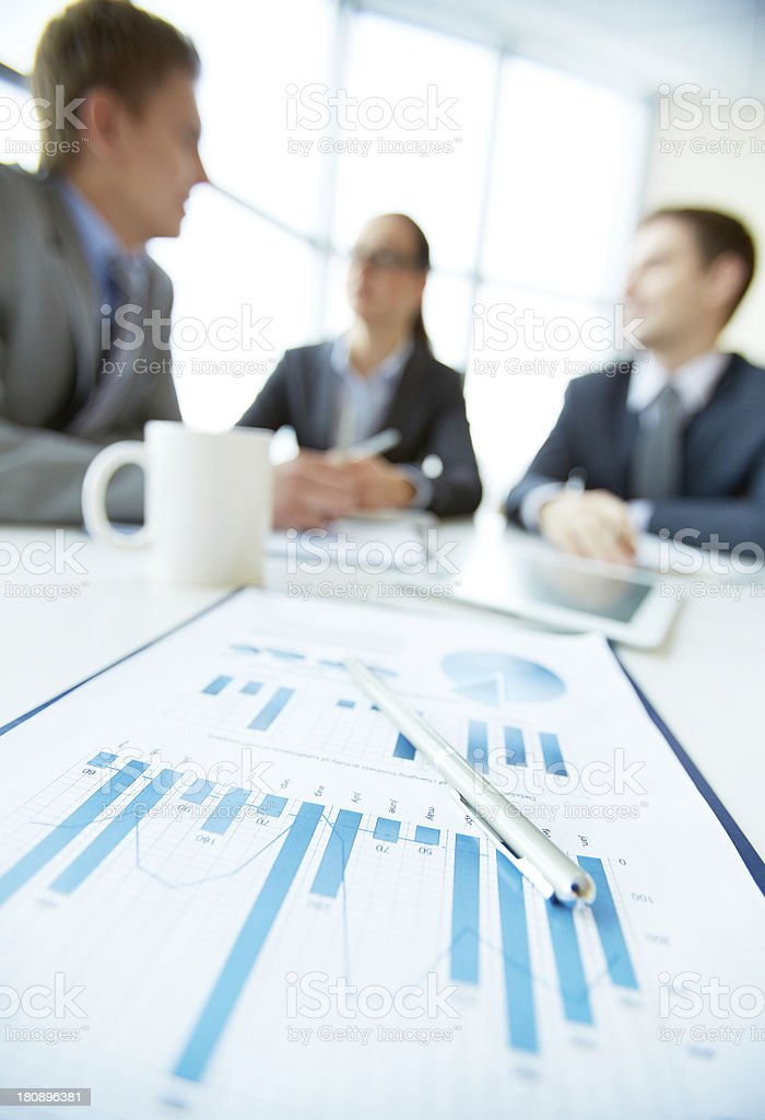 Focus on finance royalty-free stock photo
