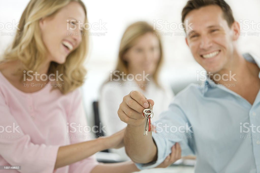 Focus on home keys royalty-free stock photo