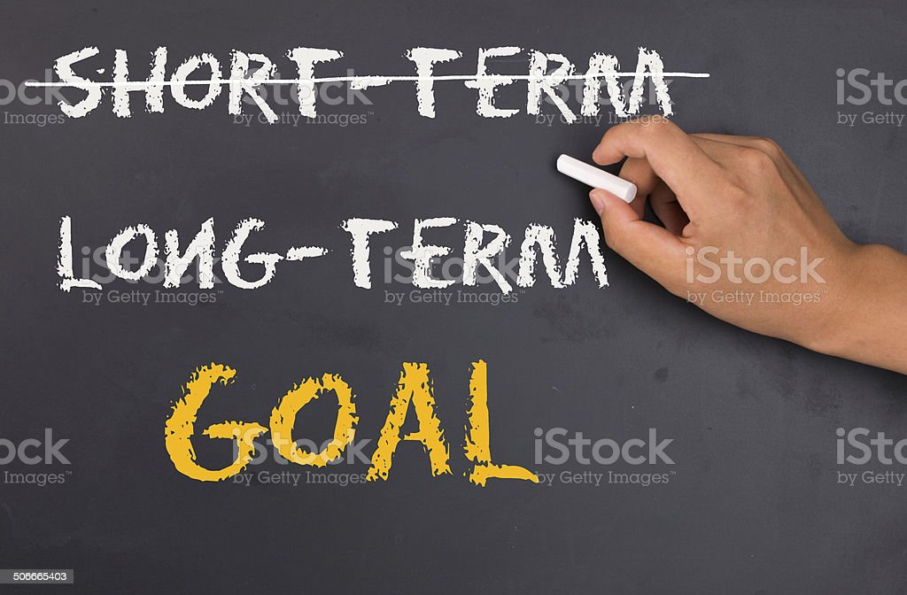 focus on long-term goal stock photo