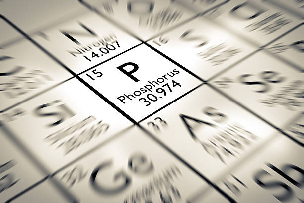 Fokus auf Phosphor chemische Element vom Mendelejew Periodensystem der Elemente – Foto