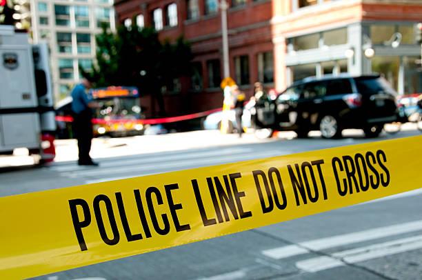 Ligne de la Police au Lieu du crime - Photo