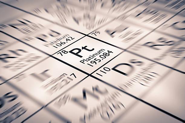 Fokus auf edle Platin chemische Element aus Metall – Foto