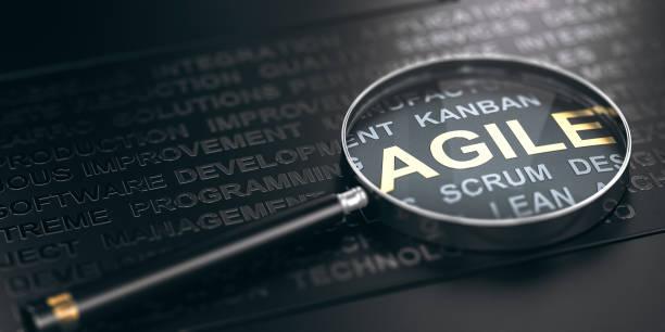 Konzentrieren Sie sich auf die Methodik des Projektmanagements. Agile Softwareentwicklung. – Foto