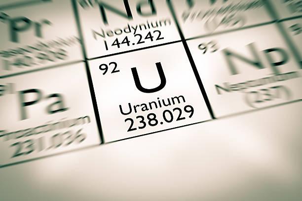 Fokus auf radioaktive Uran chemische Element – Foto