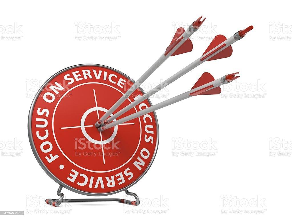 Focus on Service Slogan - Hit Target. stock photo
