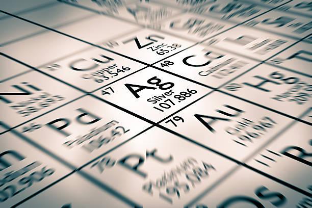 Fokus auf Silber chemische Element – Foto