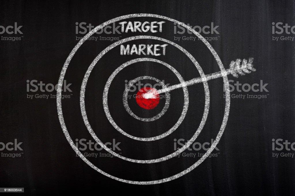 Focus on taeget market stock photo