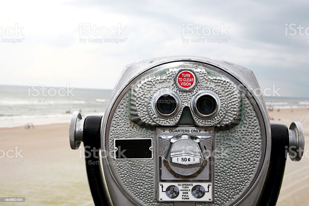 Focus on the beach stock photo