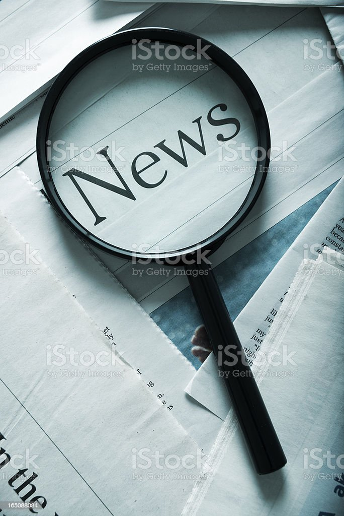 focus on the news royalty-free stock photo