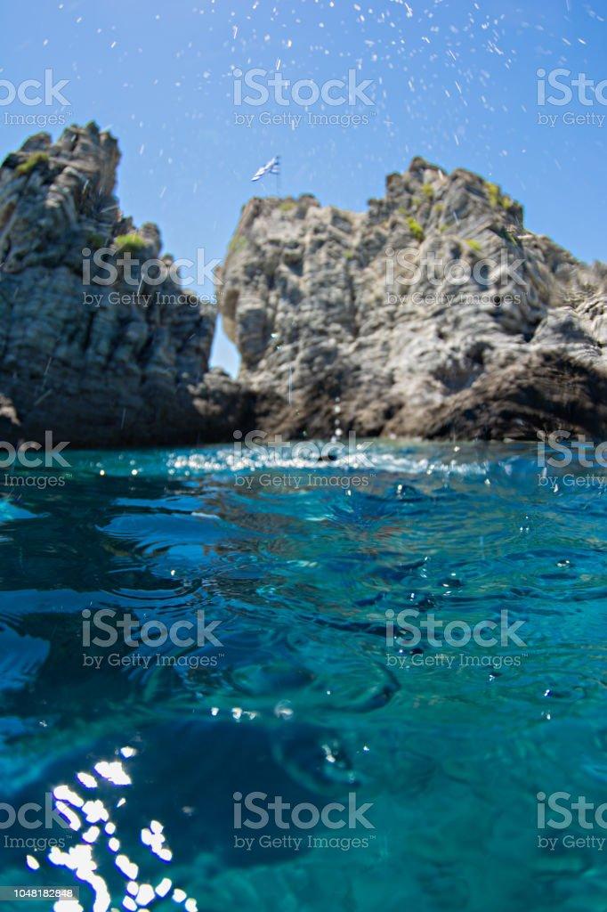 Focus on the sea stock photo