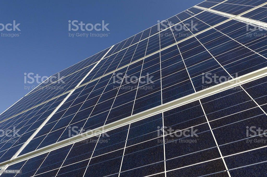 Focus on the Solar Panel royalty-free stock photo