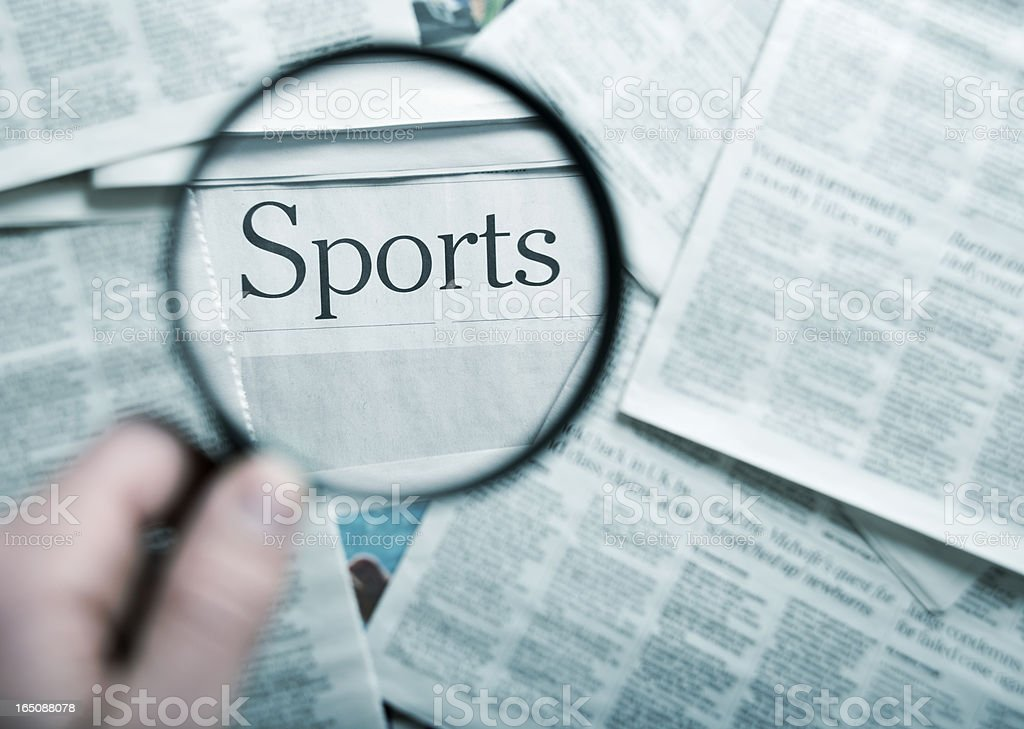 focus on the sports stock photo