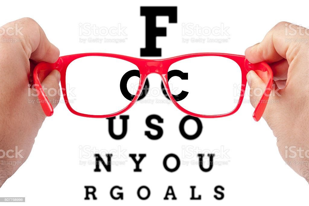 focus on your goals stock photo