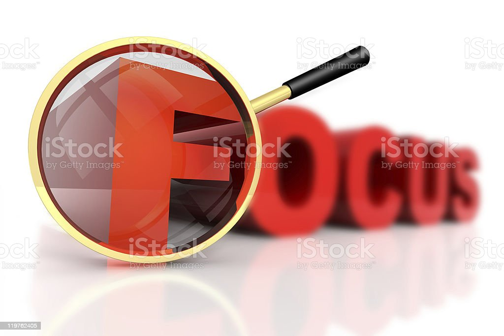 Focus stock photo
