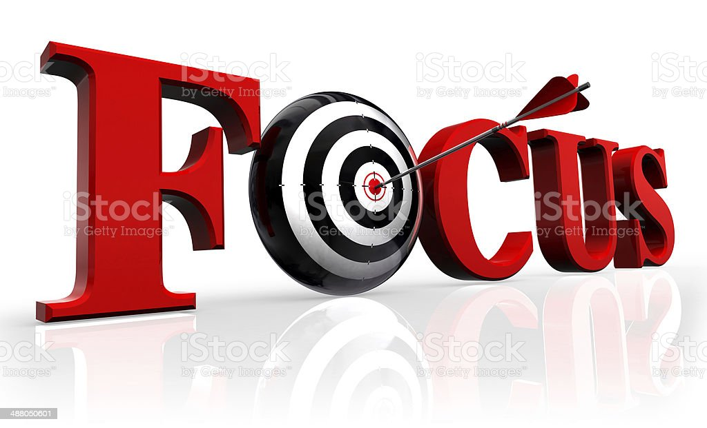 focus red word and conceptual target stock photo