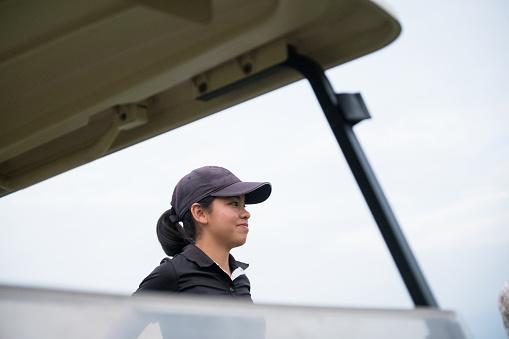 Gerichte Aziatische Vrouwelijke Golfer Stockfoto en meer beelden van Actieve levenswijze