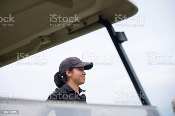 Focused Asian Female Golfer - Fotografias de stock e mais imagens de Adolescente