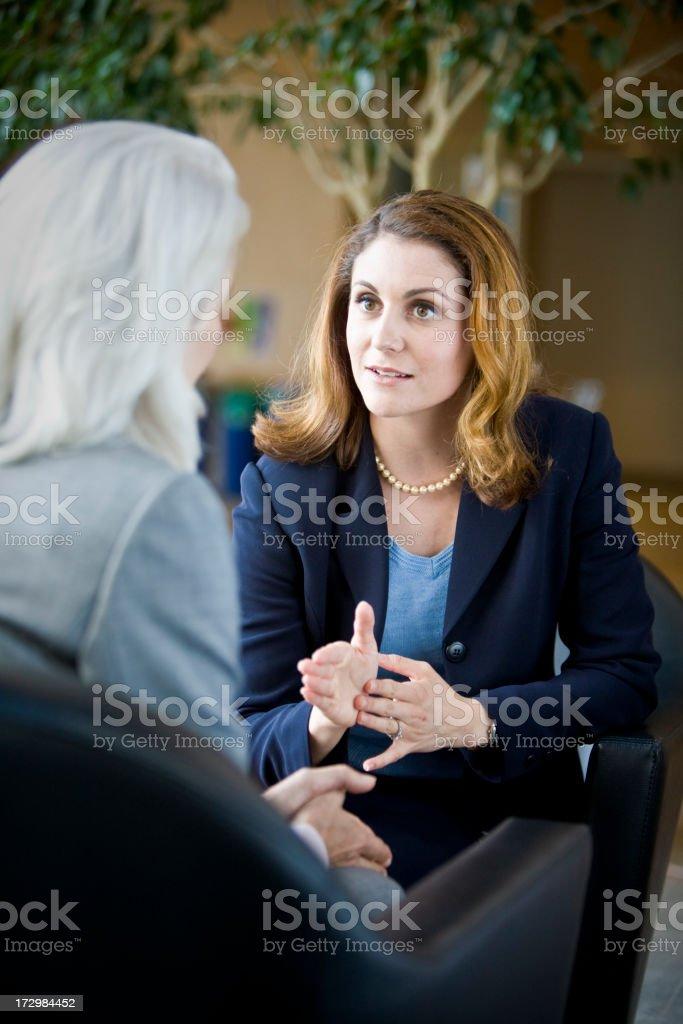 Focused Businesswoman royalty-free stock photo