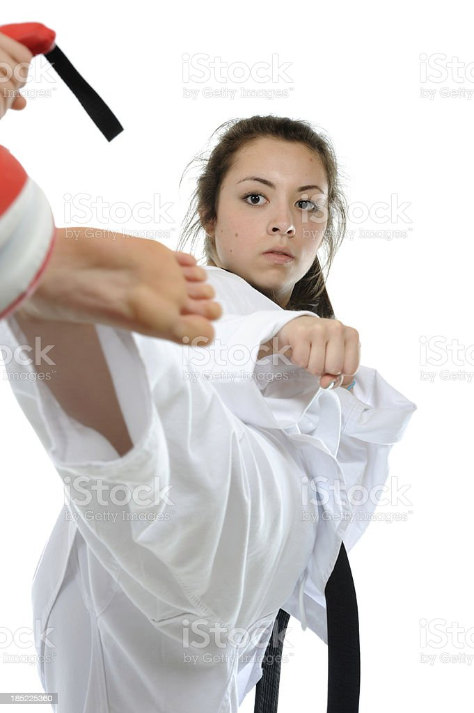 Focused delivery stock photo