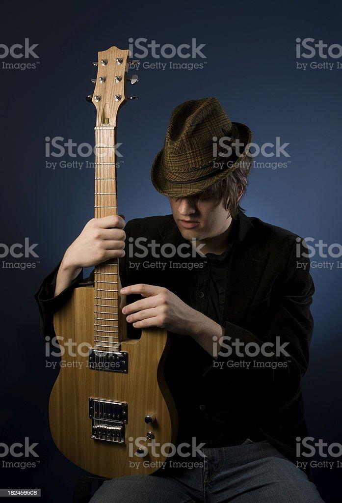 Centrado músico foto de stock libre de derechos