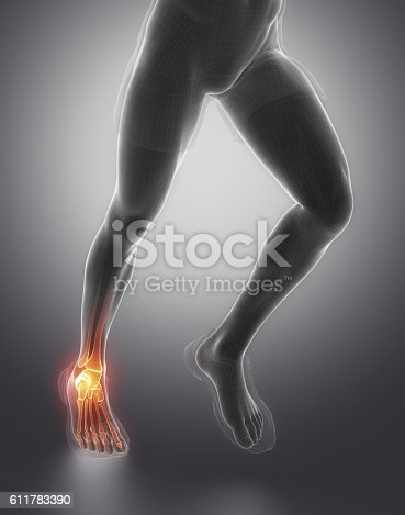 istock Focused on ankle joint 611783390