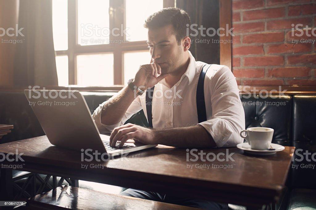 Concentré sur les affaires - Photo