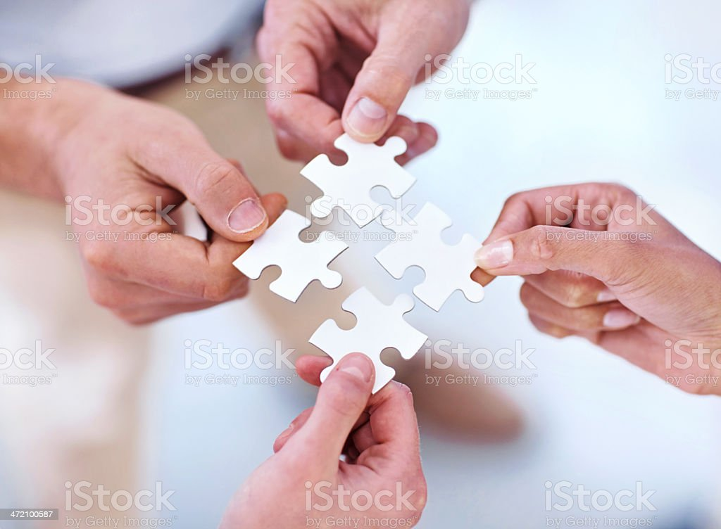 Focused on finding business solutions stock photo