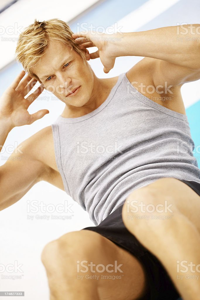 Focused on fitness royalty-free stock photo