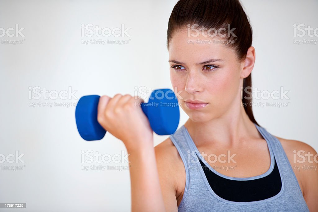 Focused on getting into shape royalty-free stock photo