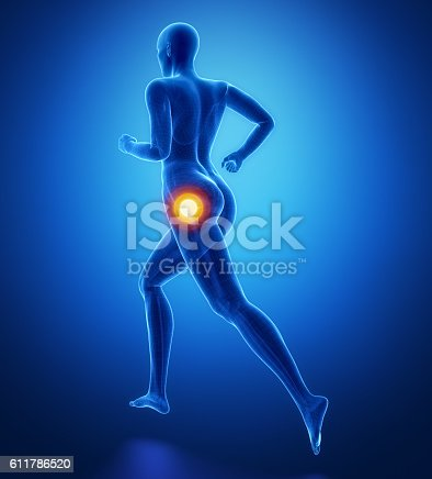istock Focused on hip in sports injuries 611786520