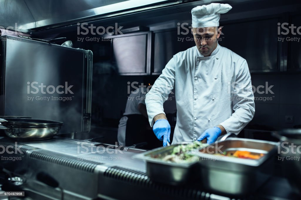 Focused on preparation stock photo