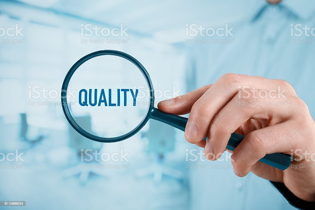 Focused on quality - foto de stock
