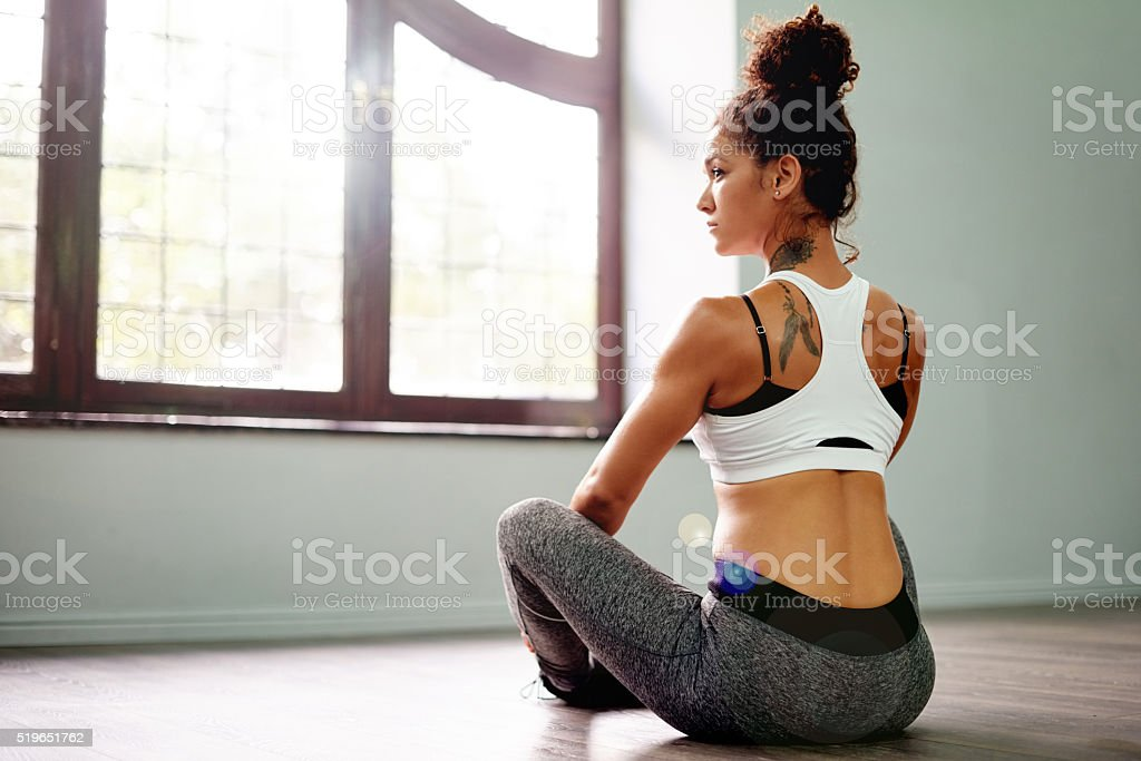 Focused on the here and now stock photo