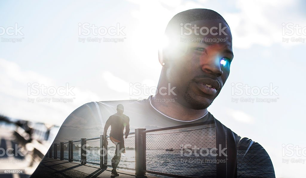 Focused on training stock photo