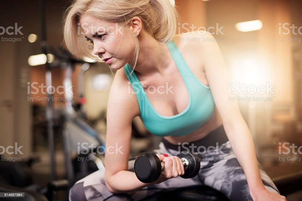 Focused on work at shoulders stock photo
