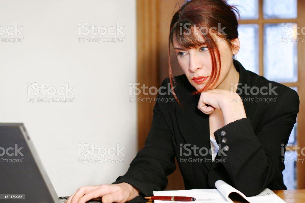 Focused on work royalty-free stock photo