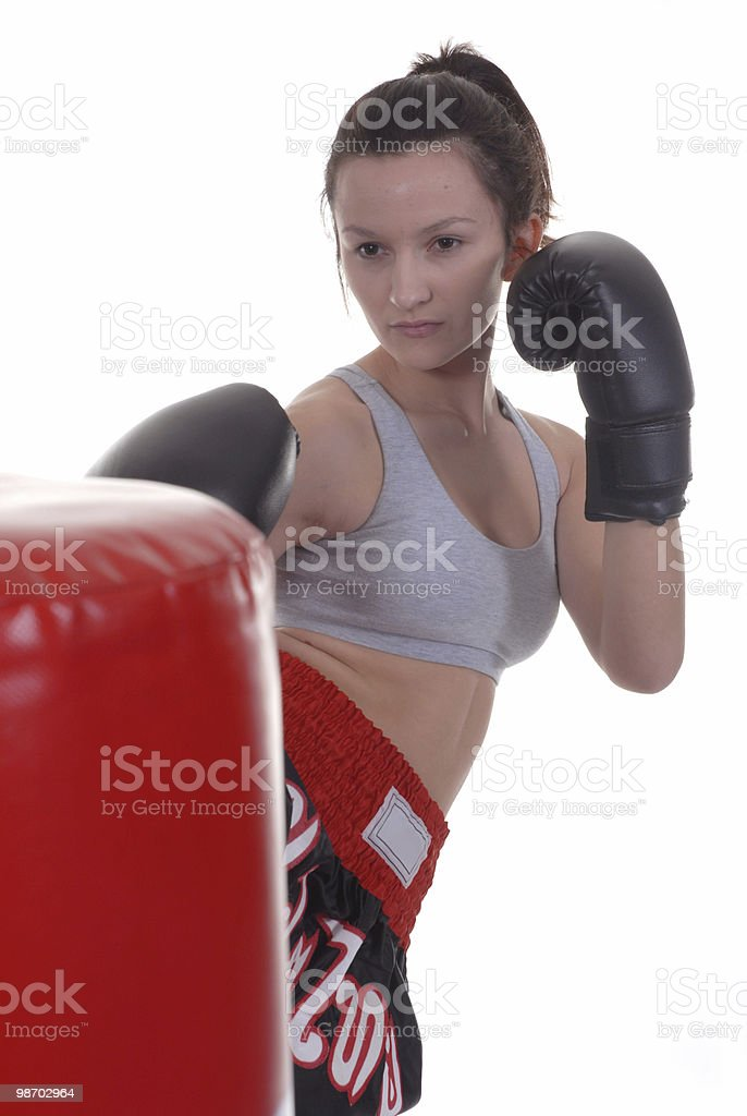 Focused workout royalty-free stock photo