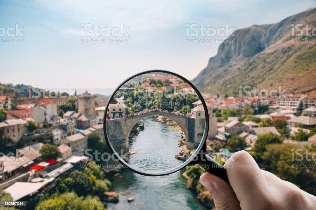 Focusing on Bosnia stock photo