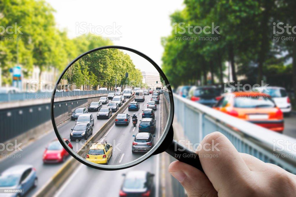 Focusing on traffic stock photo