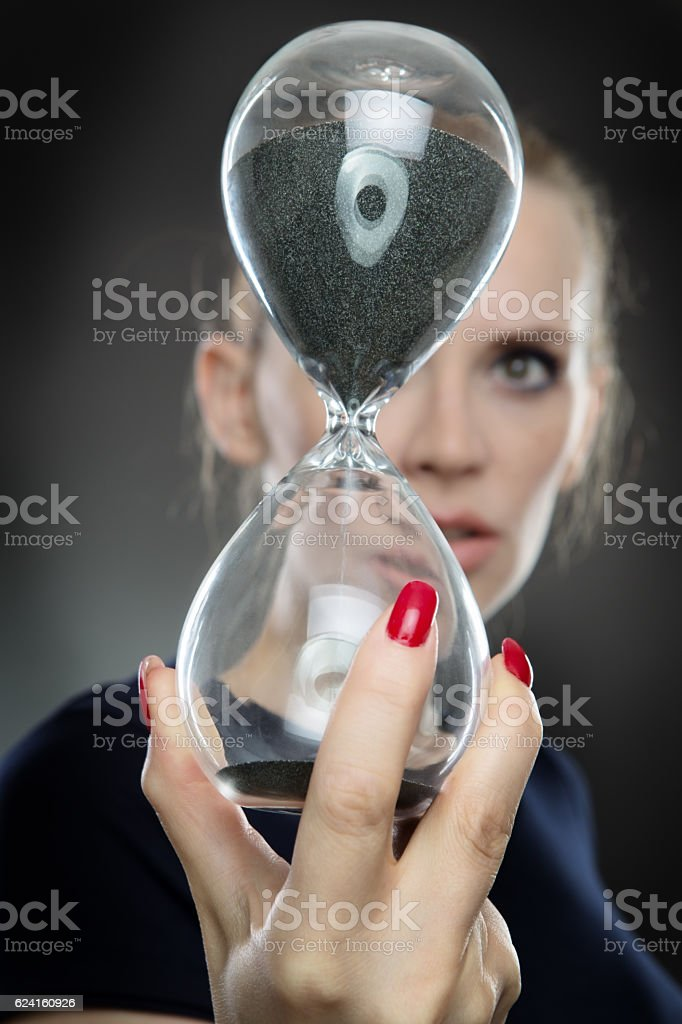 focussing on time stock photo