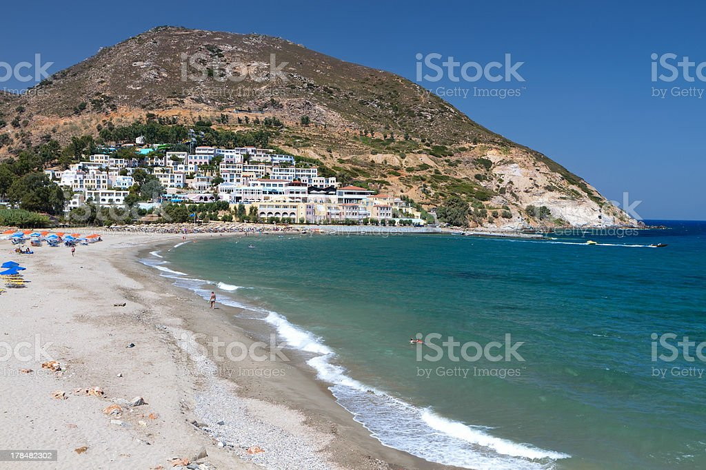 Fodele bay at Crete island in Greece stock photo