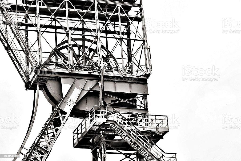foerderturm ruhrpott steel coal carbon stock photo