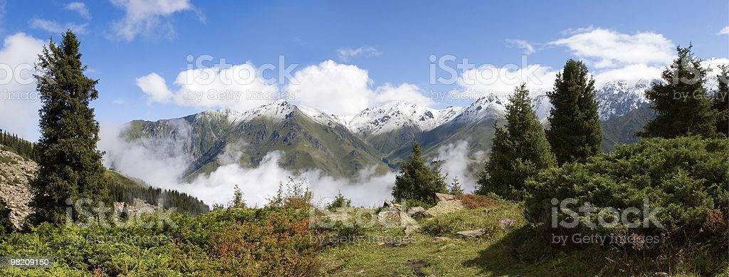 Fog after rain in mountain royalty-free stock photo