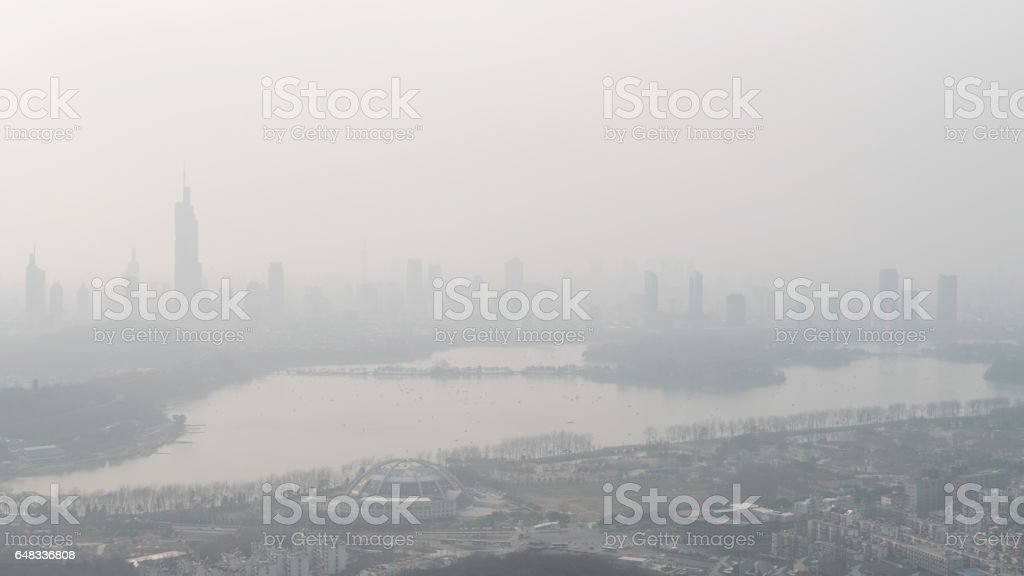 Fog and Haze in China stock photo