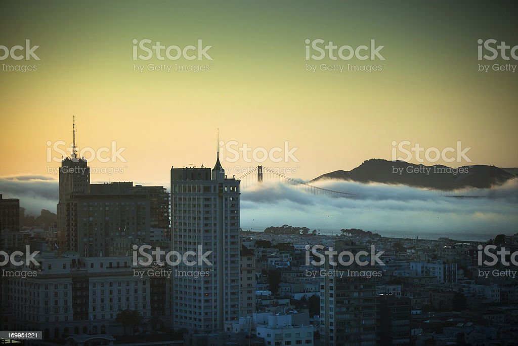 Fog Blowing Through the Golden Gate royalty-free stock photo
