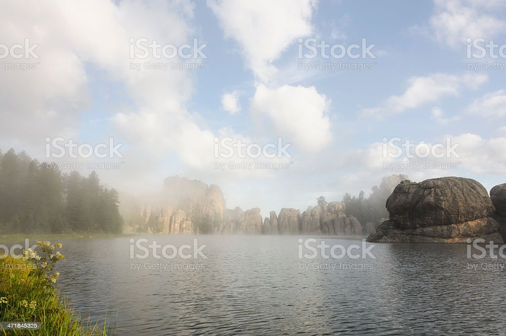 Fog Clears on a Beautiful Day royalty-free stock photo