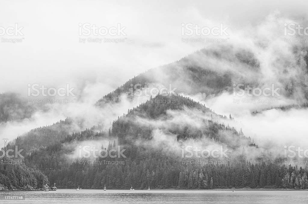 Fog & Clouds On Queen Charlotte Islands #1 stock photo