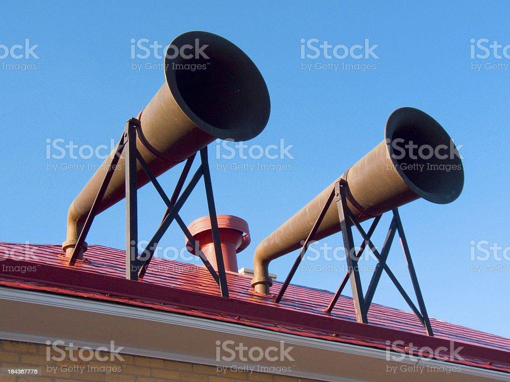 Fog Horns stock photo